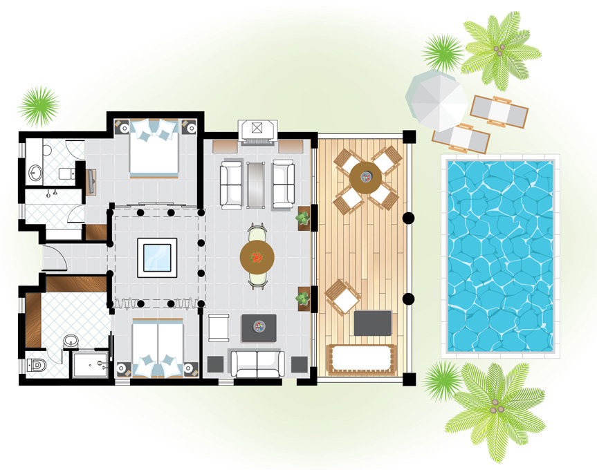 villa-delos-private-pool-floorplan